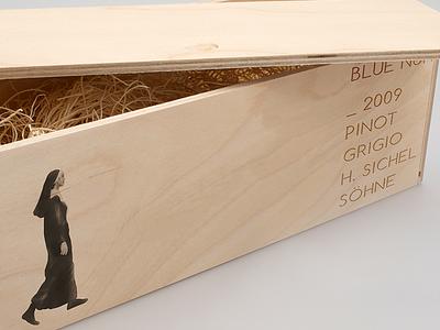 Blue Nun Crate wine blue nun packaging illustration graphic design