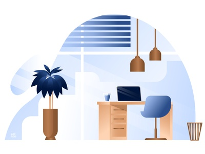 Office office space office illustration flat illustration flat design office adobe illustrator vectorart vector illustration vector katerysha illustration