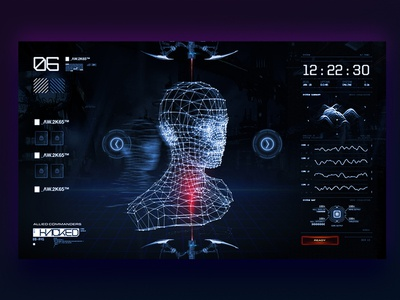 Game UI concept art onedaychallenge training scifi sf cyberpunk gui game ux ui design web