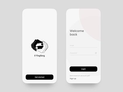 App Login Screen logo ux illustration ui design minimal figma app