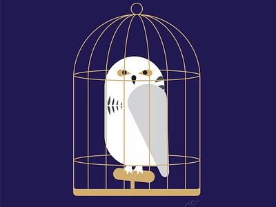 Hedwig digital art graphic illustration graphic art graphic design drawing illustration design owl hedwig hp harry potter