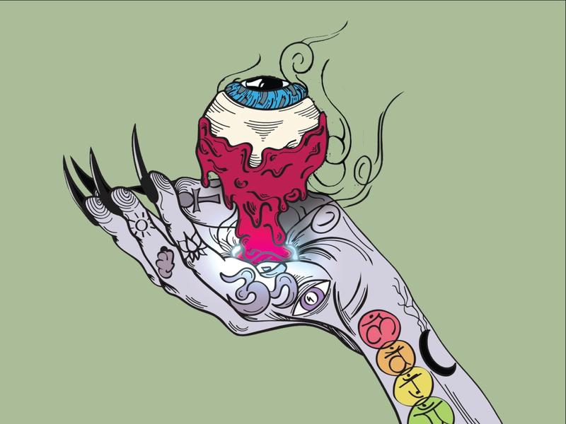 Hand Graphic illustrator vector illustration colorful linework design