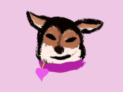 RAZOR BLADE illustration pup procreate cute animals puppies