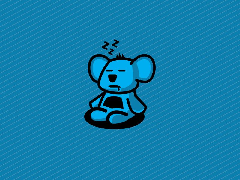 Sleeping Koala koala animal sleep flat sticker