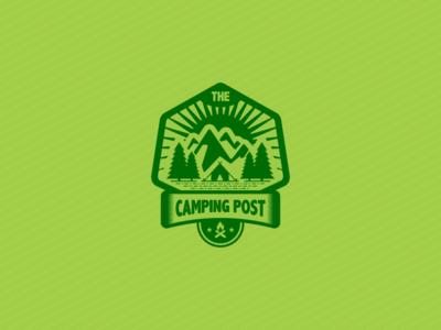 Camping Badge adventure camp camping nature outdoor mount badge emblem survival