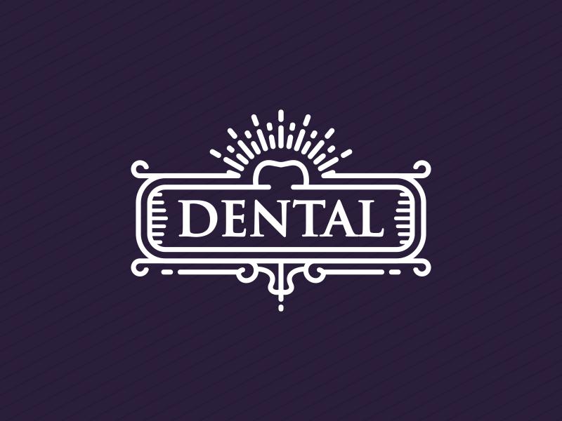 Dental Line Art Badge teeth tooth doctor badge line art dental dentist dent