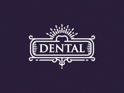 Dental Line Art Badge