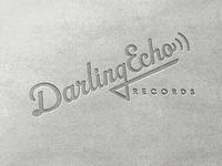 Letterpressed Darling Echo