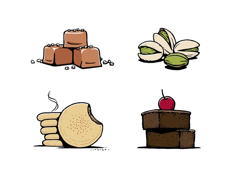 Flavors ice-cream design illustration