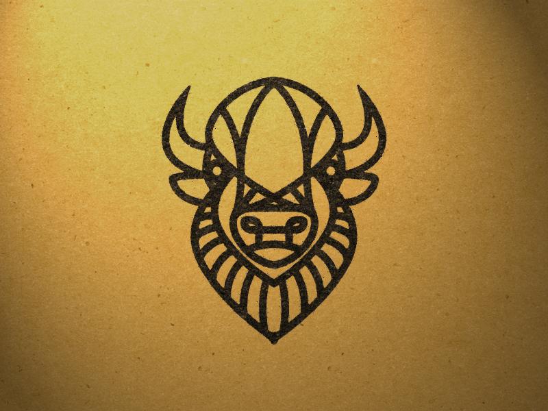 Bison bison lines design illustration