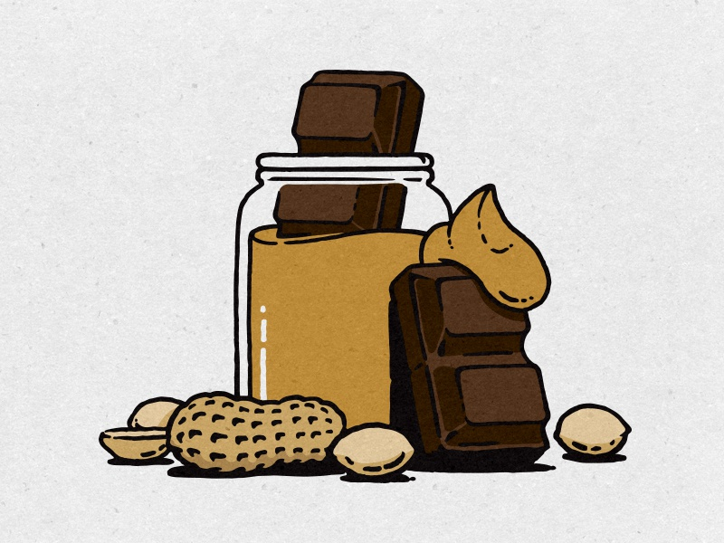 Peanut Butter Chocolate design illustration