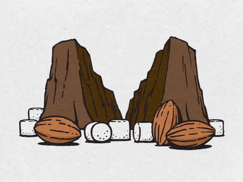 Rocky Road design illustration