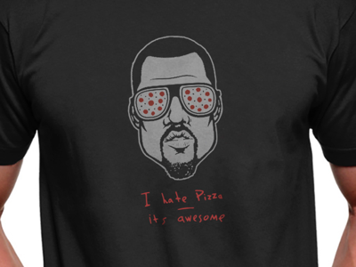 Kanye Roscoe pizza design illustration