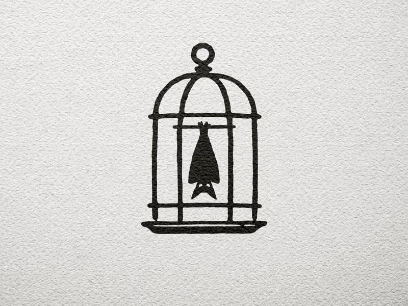 Strangebird Logomark bird design illustration