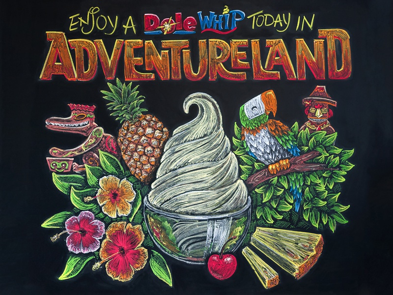 Dole Whip Chalk Drawing By Parakeet On Dribbble