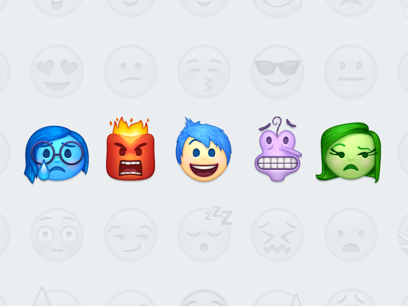 Inside Out Emoji inside out emoticons disney pixar icons emoji