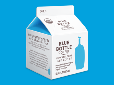 Blue Bottle New Orleans Iced Coffee illustration new orleans iced coffee blue bottle coffee carton nola