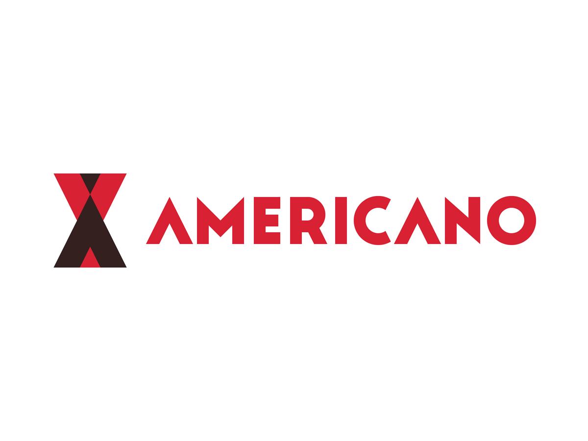 Americano   horizontal crimson