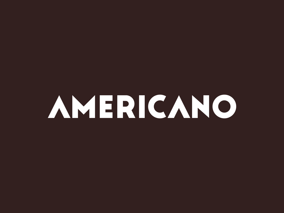 Americano   white on coffee
