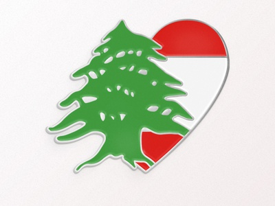 Love for Lebanon Enamel Pin pin vector design digitalart enamelpin graphicdesign