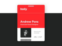 ID Badge design concept typography branding design branding corporate badge id
