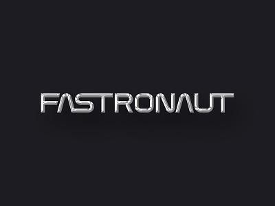 FASTRONAUT retro space chrome outrun lettering nasa 80s photoshop metallic design branding logo typography