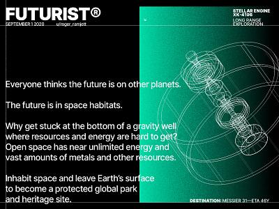 Future Plans concept vector illustration gradient swiss typography space brutalist brutalism