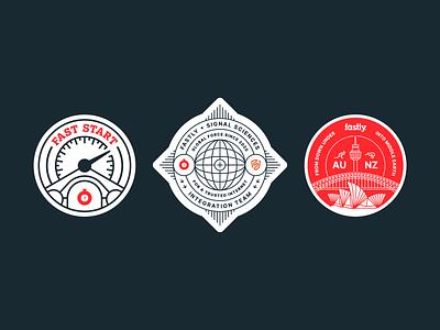 Team Stickers swag badge sticker vector logo illustration