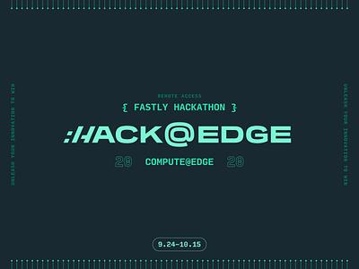 Hack@Edge hackathon hack tech design logo typography branding