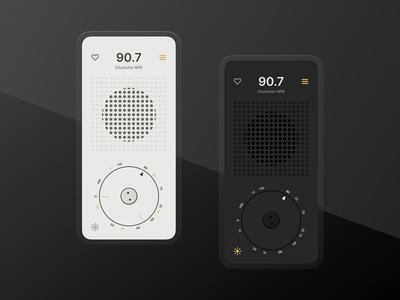 Braun Radio App concept design minimal ui design retro mid century radio classic minimalism braun ui app design app