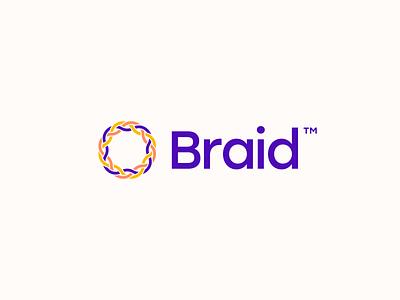 Braid braid logo design concept brand brand identity concept logo branding