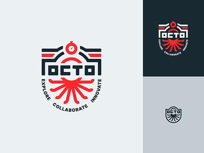 OCTO Logo icon badge design logo branding