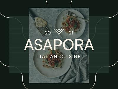 Asapora noodles figma identity typography logo restaurant food italian branding brand