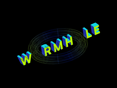 Wormhole illustration illustrator concept scifi wormhole space animation motion graphics 3d