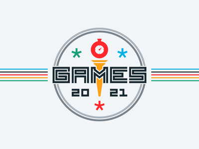 Fastly Games rainbow colorful vintage retro typography games olympics branding logo
