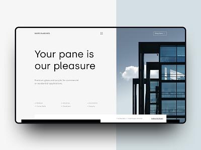 Sadie's Glass Mfg. silka modern website typography web design ux web design ui