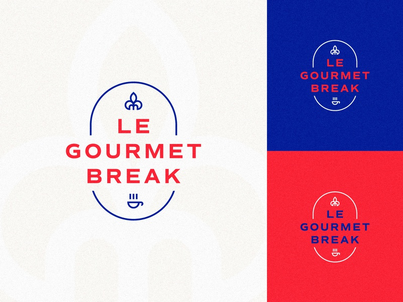 Le Gourmet Break restaurant french branding icon design vector brand logo