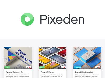 Pixeden Refresh concept logo flat design icon ui branding brand