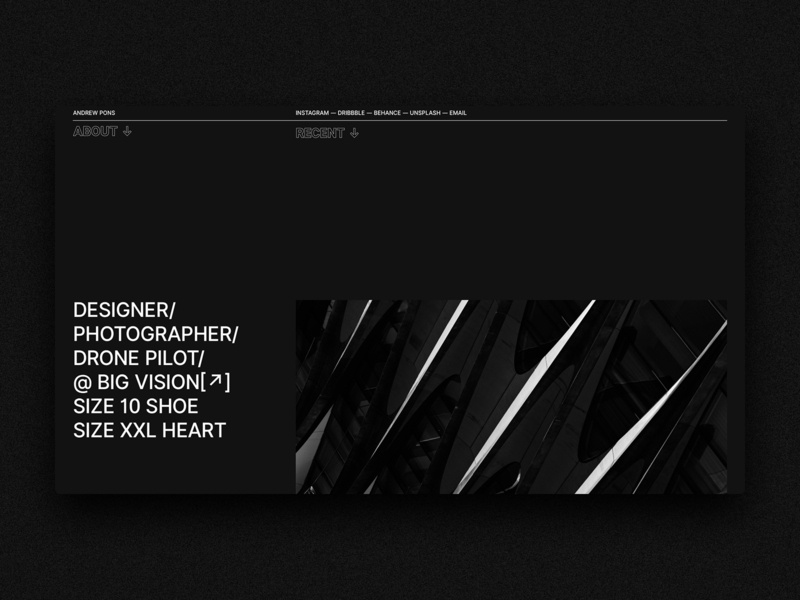 New site who dis black and white typography ux web design web ui design