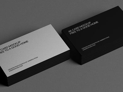 Business Card - Free Mockup branding design free mockup photoshop identity business card mockup free