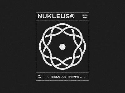 Nukleus® black and white logo grain gritty grid beer label beer black and white celtic icon logo concept branding design