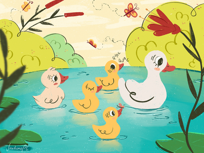 The Ugly Duckling nature childrens book editorial illustration children childrens illustration illustration design