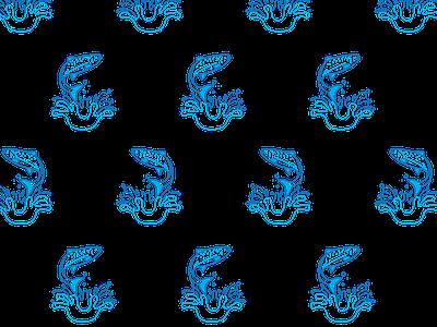 Trout 2 patterns print