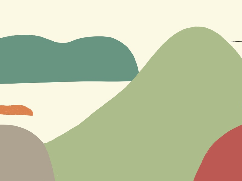 Journey_Crossing the mountains journey travelling mountains green graphic vector character animation drawing design illustration