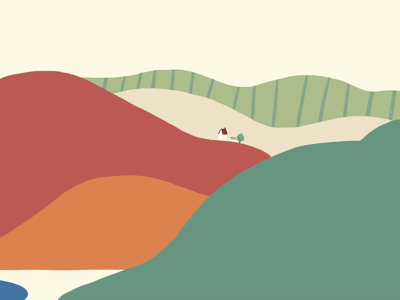 Journey_Mountain View procreate poster ipadpro vector graphic design animation drawing design illustration
