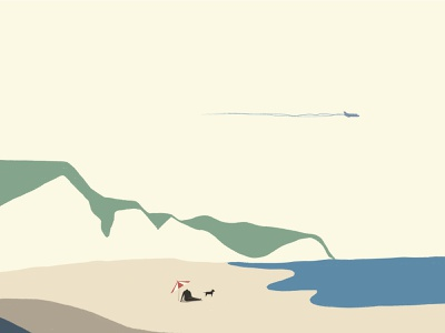 Journey_Relaxing in White cliffs ipad pro ipadpro procreate branding vector character graphicdesign graphic design animation drawing design illustration