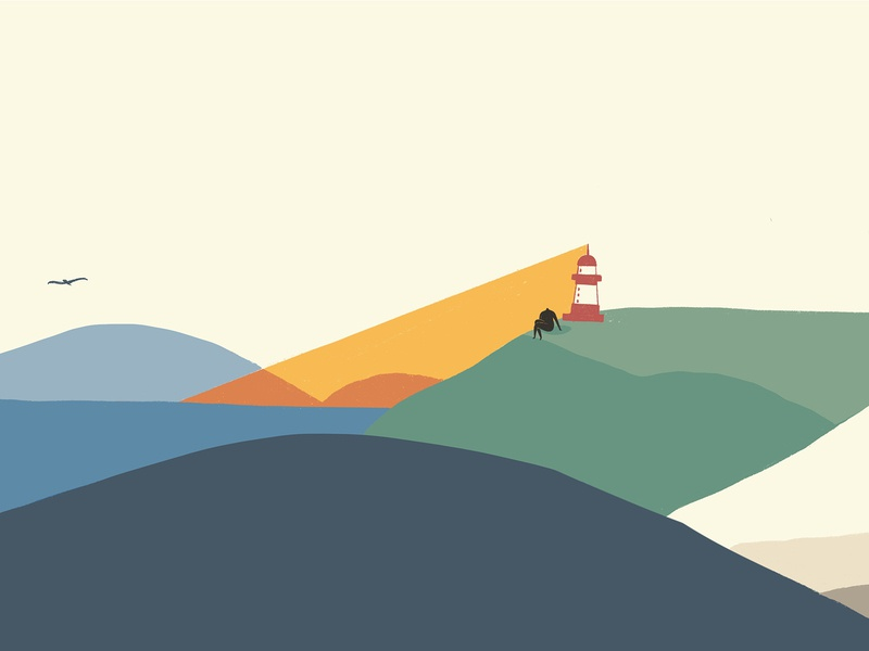 Journey_Arrived Light House ipadpro procreate travelling character vector graphicdesign graphic design animation design drawing illustration