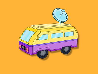 Bus. Cars #1 art illustration vector automobile car bus