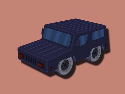 Jeep. Cars #4 vector art illustration car jeep
