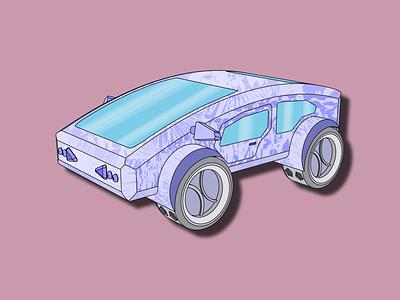Futuristic car. Cars #5 vector art illustration car futuristic